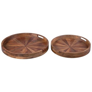 Lucio Natural Tray Set