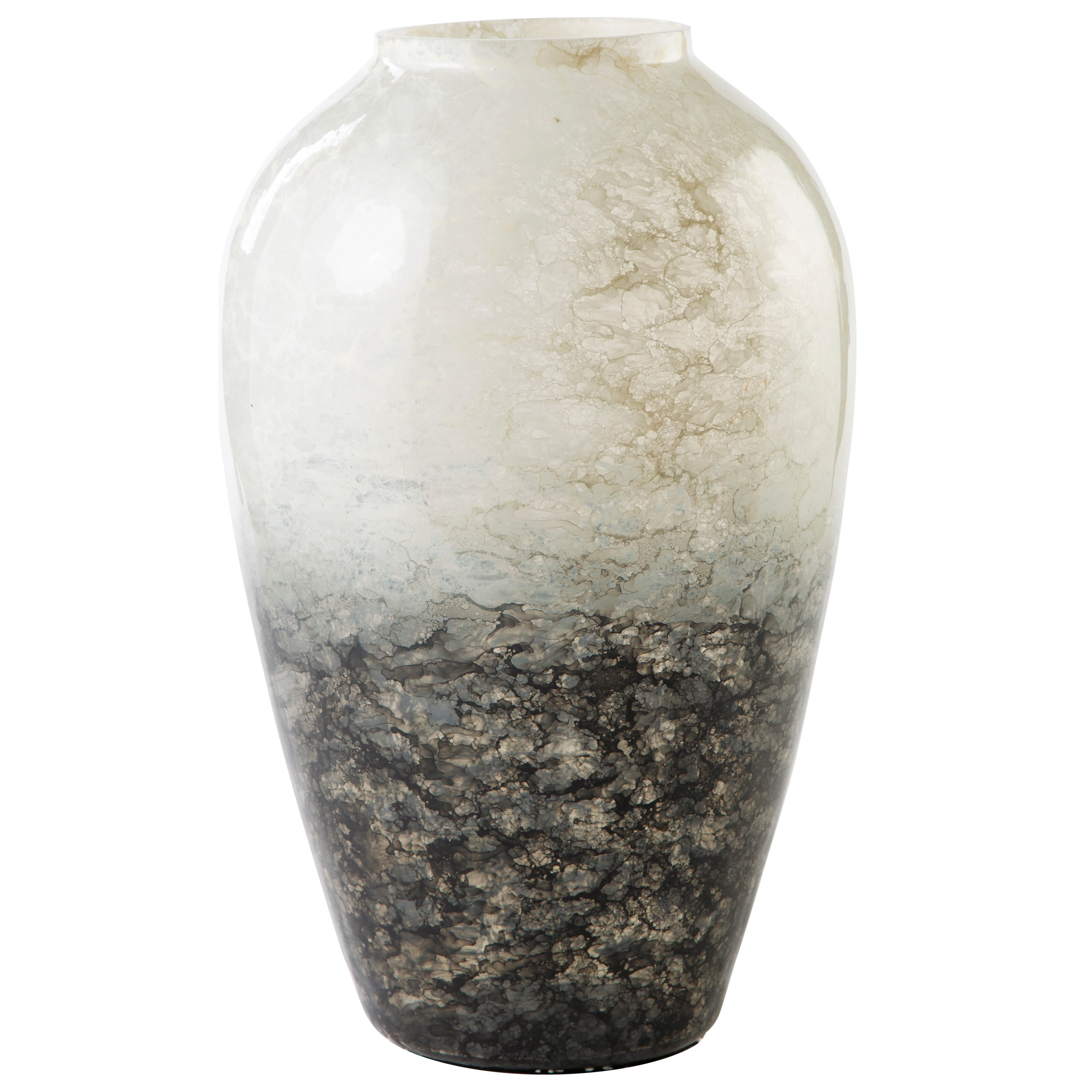 Accents Mirielle White/Gray Vase by Ashley (Signature Design) at Johnny Janosik