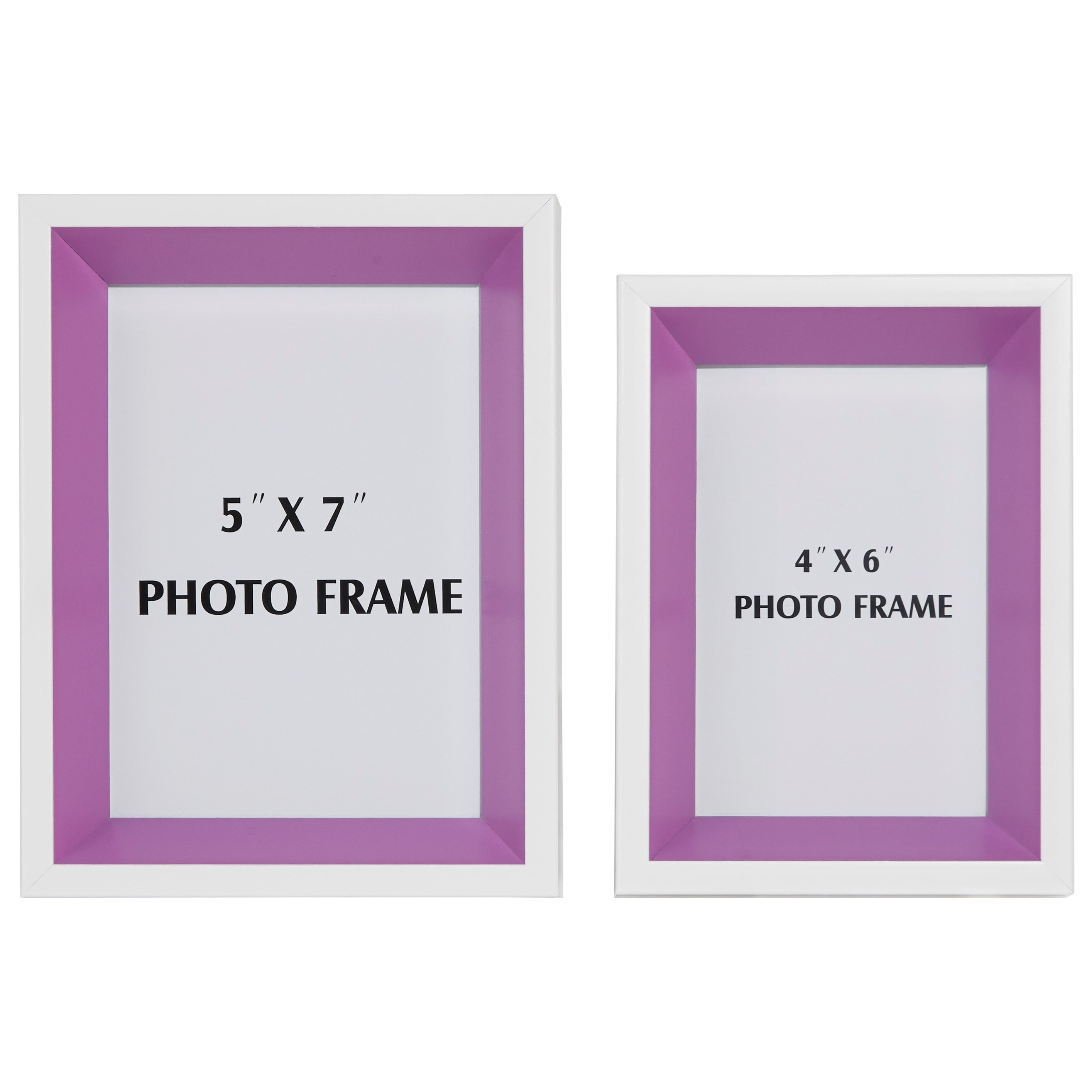 Signature Design by Ashley Accents Obie White/Purple Photo Frame (Set of 2) - Item Number: A2080001F