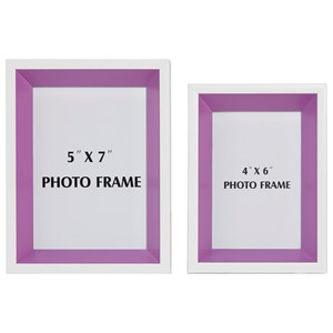 Signature Design by Ashley Accents Obie White/Purple Photo Frame (Set of 2)