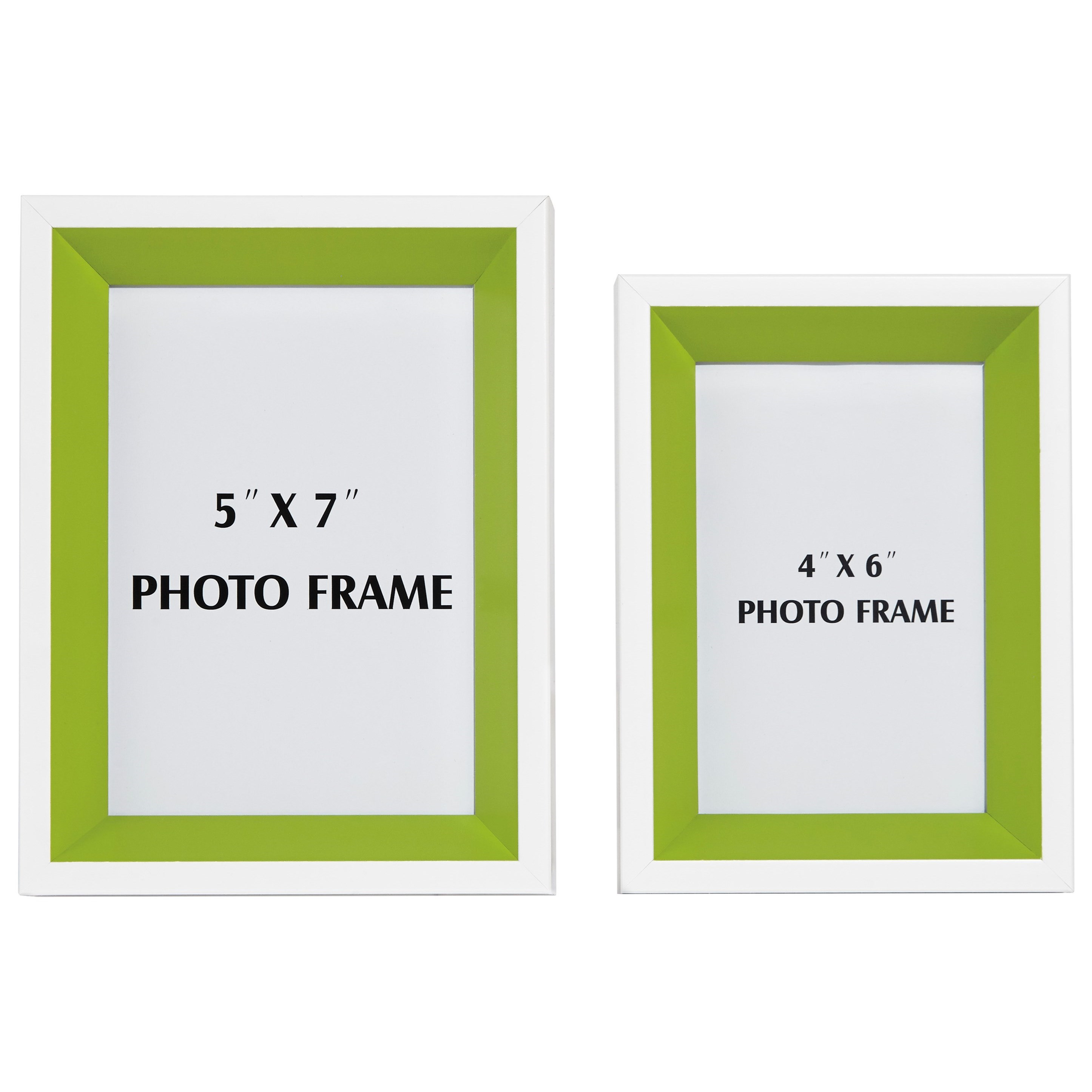 Signature Design by Ashley Accents Obie White/Green Photo Frame (Set of 2) - Item Number: A2080003F
