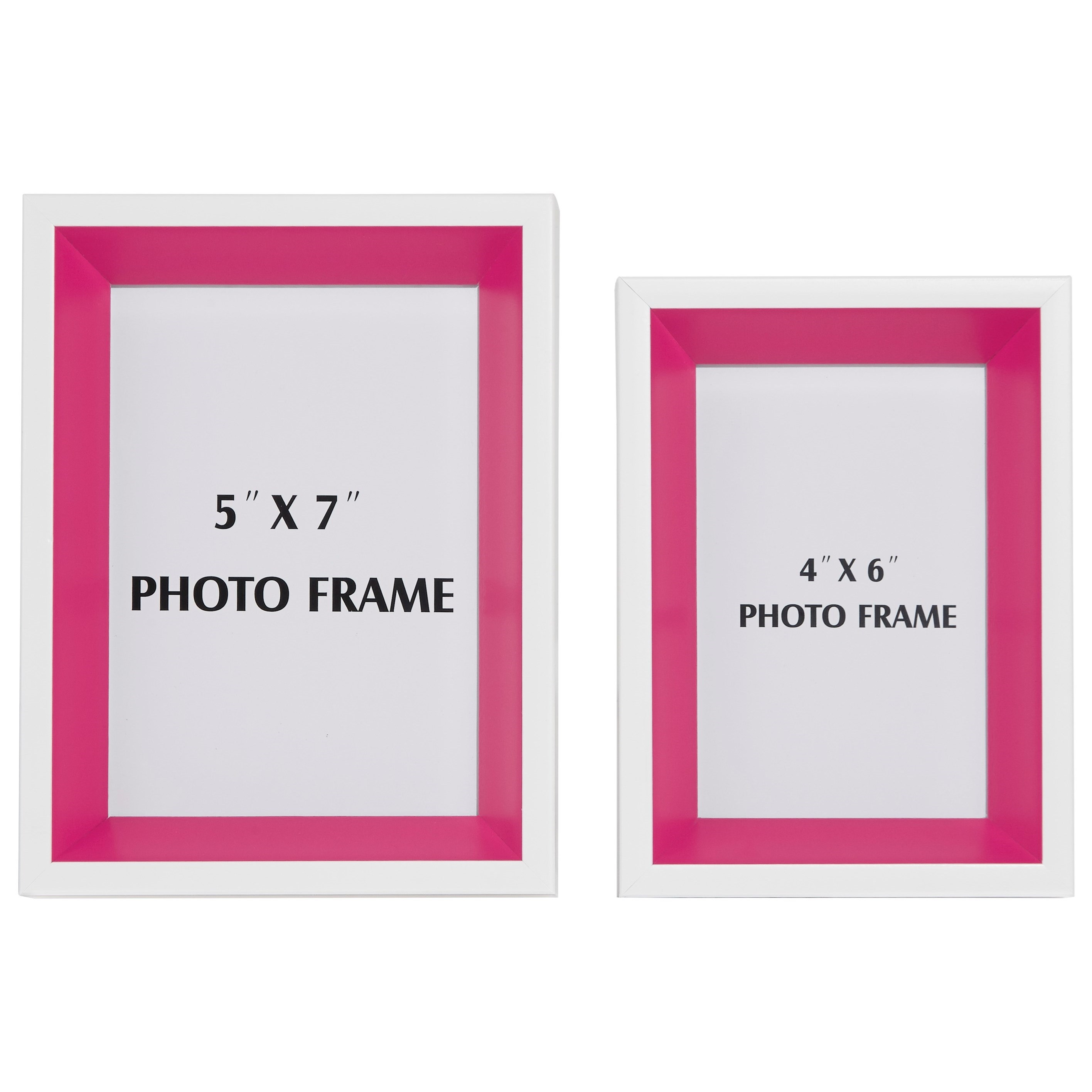 Signature Design by Ashley Accents Obie White/Pink Photo Frame (Set of 2) - Item Number: A2080004F