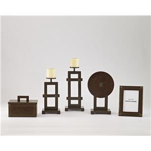 Sesen - Bronze & Faux Leather Accessory Set
