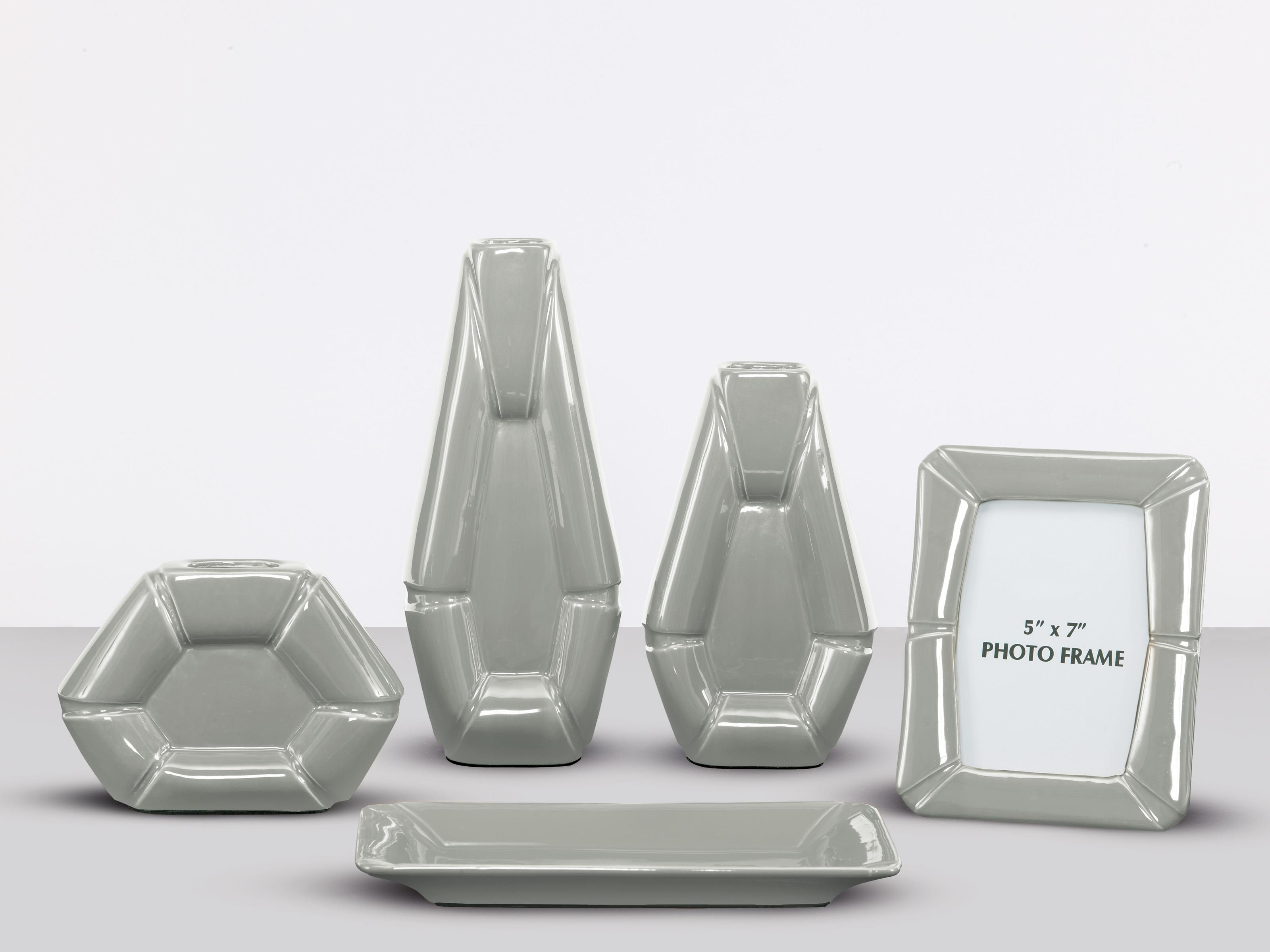Signature Design by Ashley Furniture Accents Table Top Accessories - Gray - Item Number: A2C00114