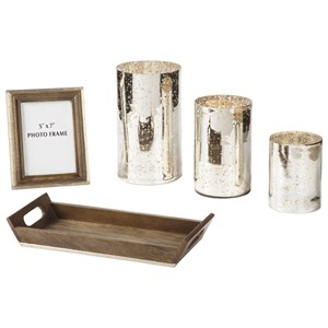 Ashley Signature Design Accents Dexton Brown/Silver Finish Accessory Set