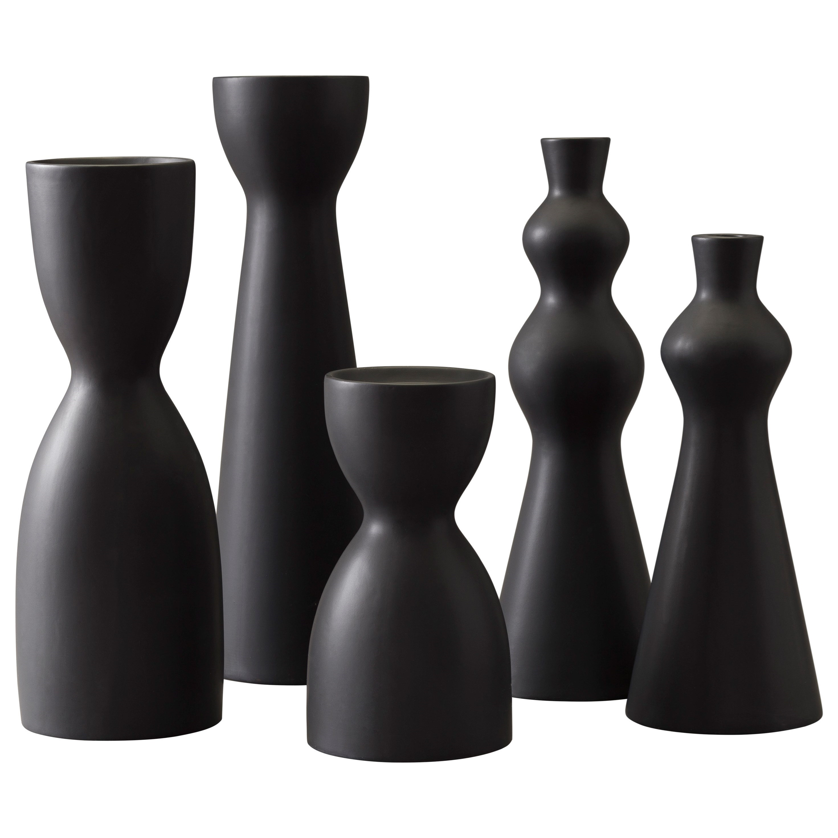Signature Design by Ashley Accents Destry Black Candle Holders (Set of 5) - Item Number: A2C00126