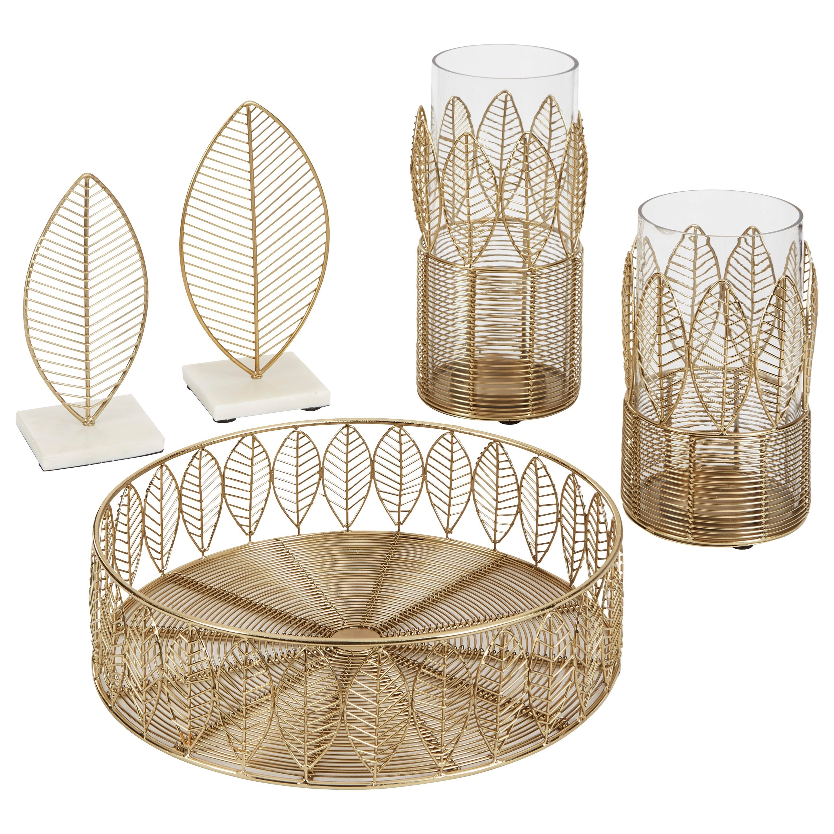 Accents Dimity Gold Finish Accessory Set by Signature Design by Ashley at Standard Furniture