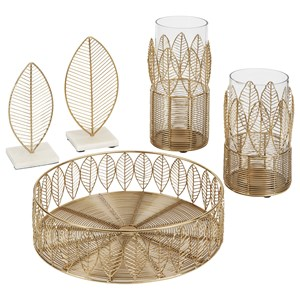 Dimity Gold Finish Accessory Set