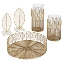 Signature Design by Ashley Accents Dimity Gold Finish Accessory Set - Item Number: A2C00132