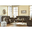Signature Design by Ashley Accrington Casual Contemporary Loveseat