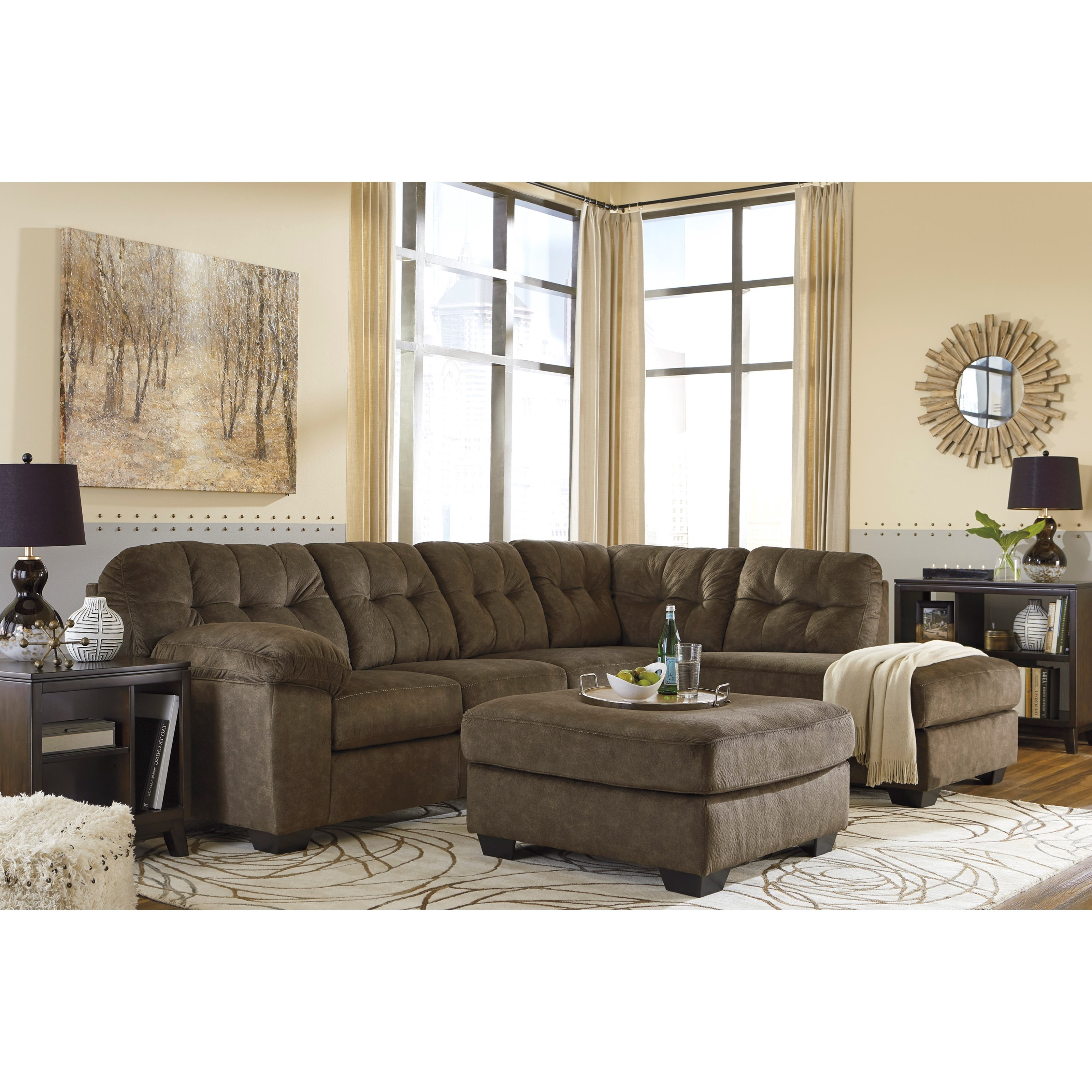 Signature Design By Ashley Accrington Sectional With Right