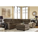 Signature Design by Ashley Accrington Sectional with Right Chaise & Memory Foam Queen Sleeper Mattress