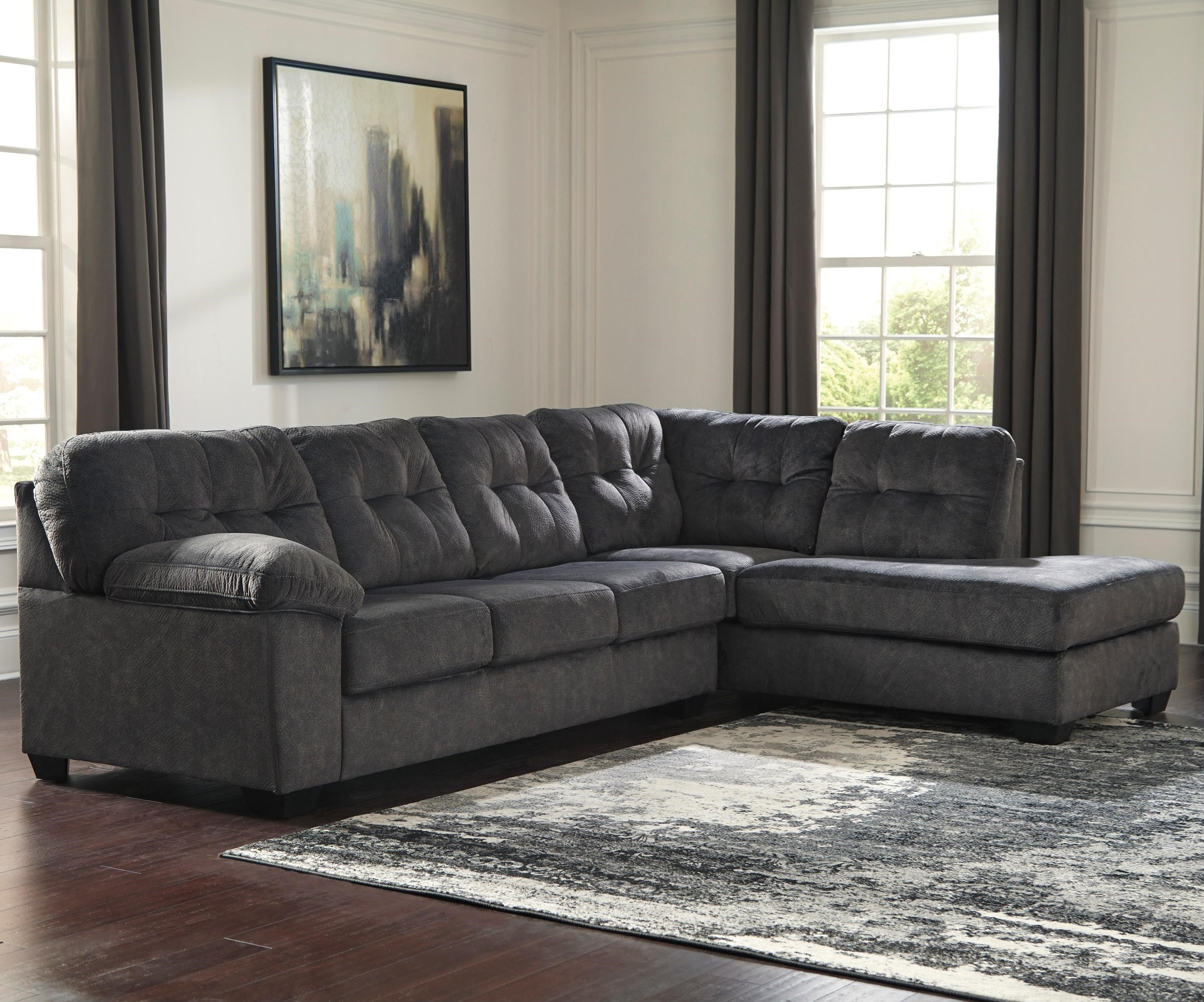 Accrington Sectional with Right Chaise by Signature Design by Ashley at Pilgrim Furniture City