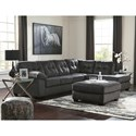 Signature Design by Ashley Accrington Contemporary Sectional with Right Chaise and Pillow Arm