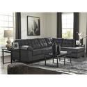 Signature Design by Ashley Accrington 2 PC Sectional  and Recliner Set - Item Number: 7050966+17+25