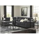 Signature Design by Ashley Accrington 2 PC Sectional and Recliner Set - Item Number: 7050967+16+25