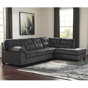 Signature Design by Ashley Accrington Sectional with Right Chaise & Queen Sleeper