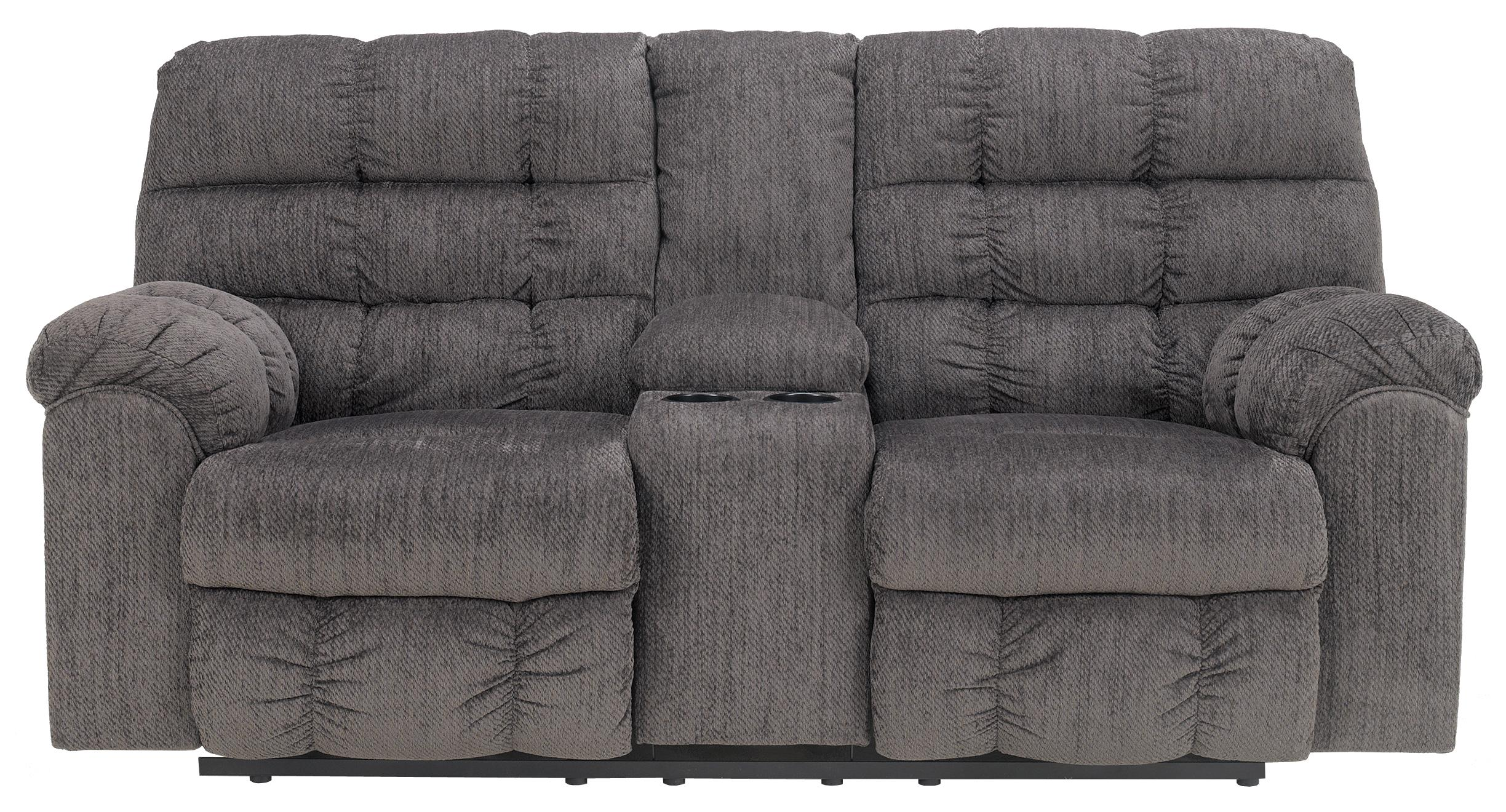Double Reclining Loveseat with Console