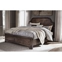 Signature Design by Ashley Adinton King Panel Bed with Storage Footboard