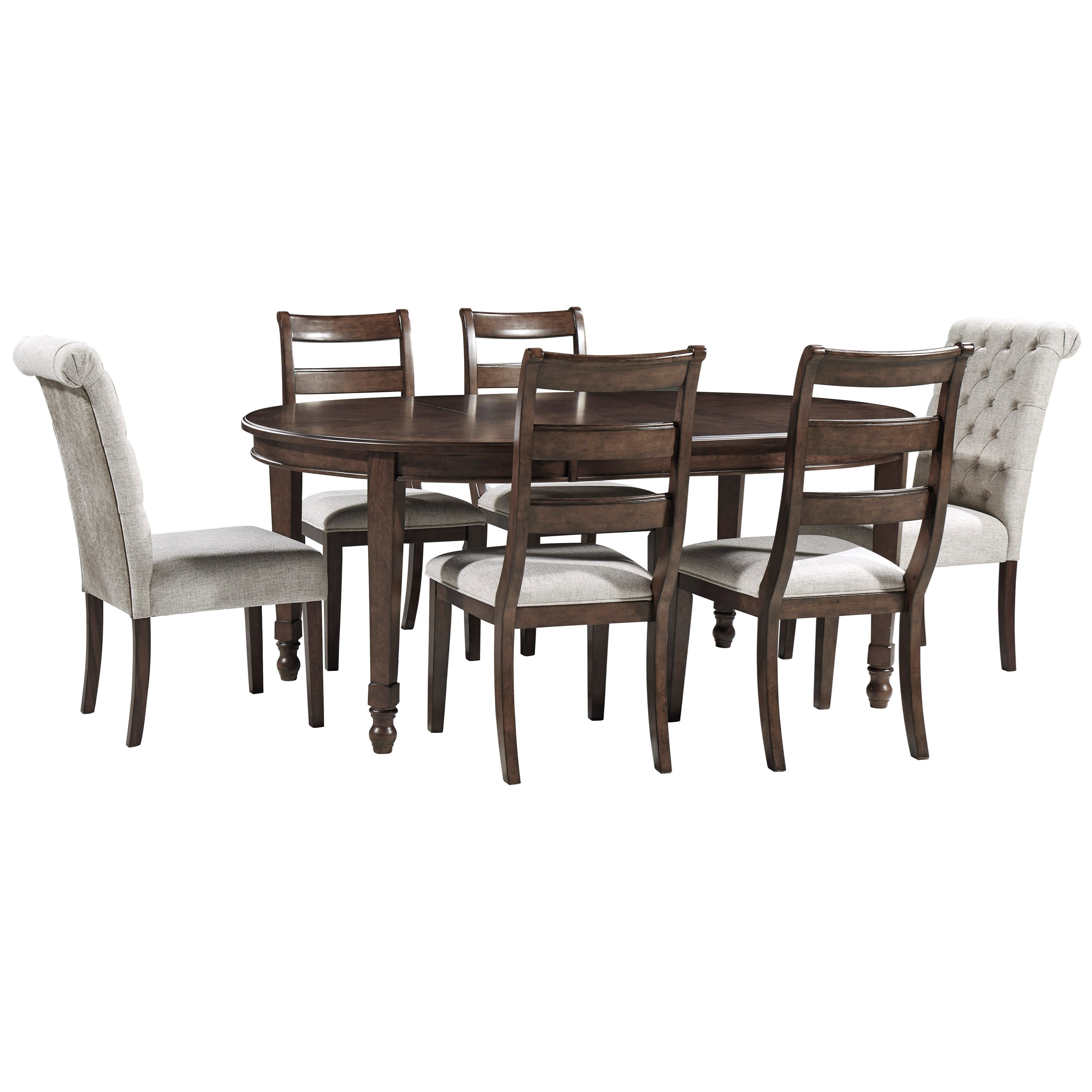 Adinton 7-Piece Table and Chair Set by Signature Design by Ashley at Beds N Stuff