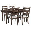 Signature Design by Ashley Adinton 5-Piece Table and Chair Set - Item Number: D677-35+4x01