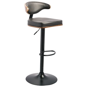 Tall Upholstered Swivel Barstool