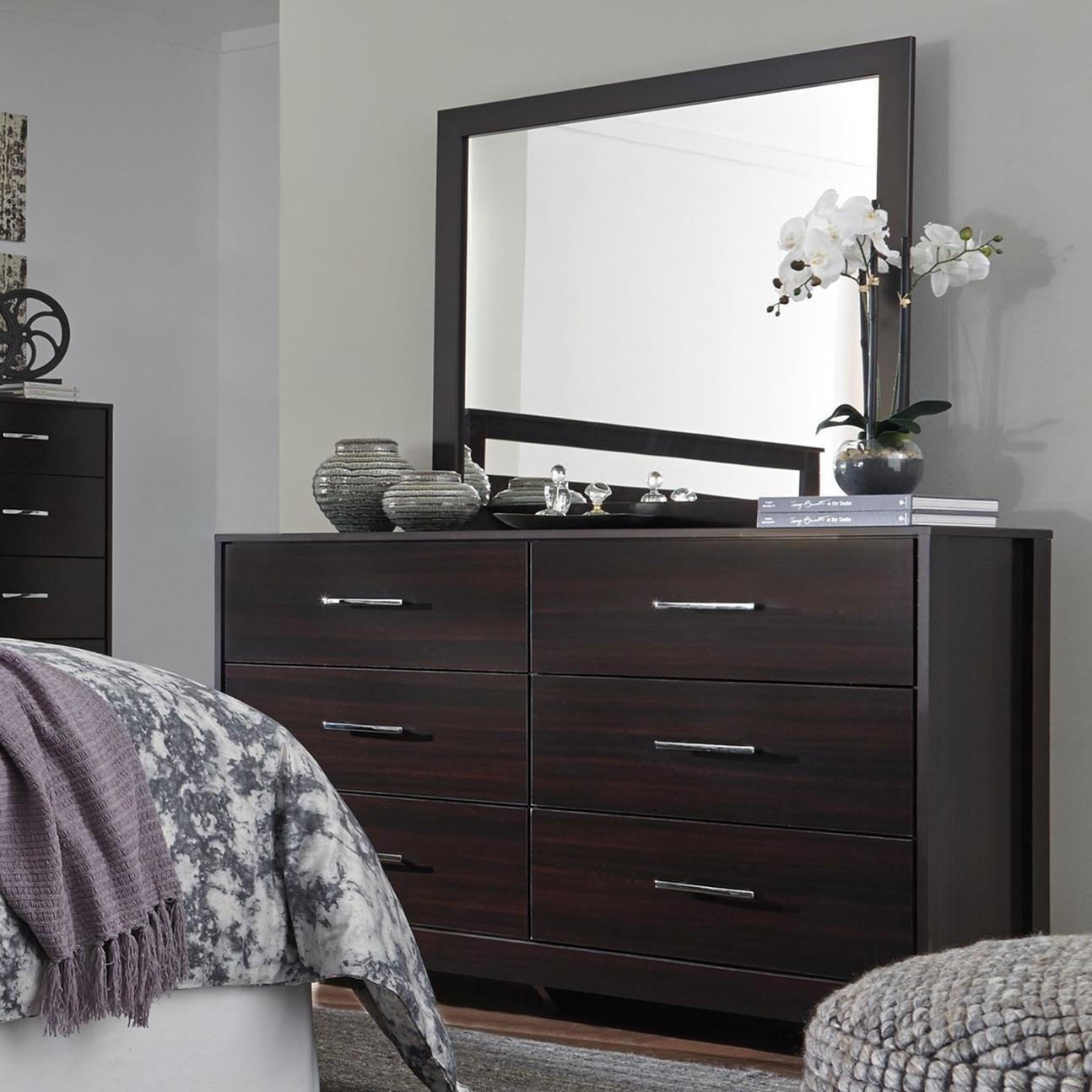 Signature Design by Ashley Agella Dresser & Bedroom Mirror - Item Number: B072-31+36