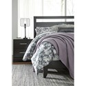 Signature Design by Ashley Furniture Agella King Panel Bed with Low Profile Footboard