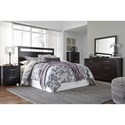 Signature Design by Ashley Furniture Agella Queen/Full Panel Headboard with Cut Out Detail