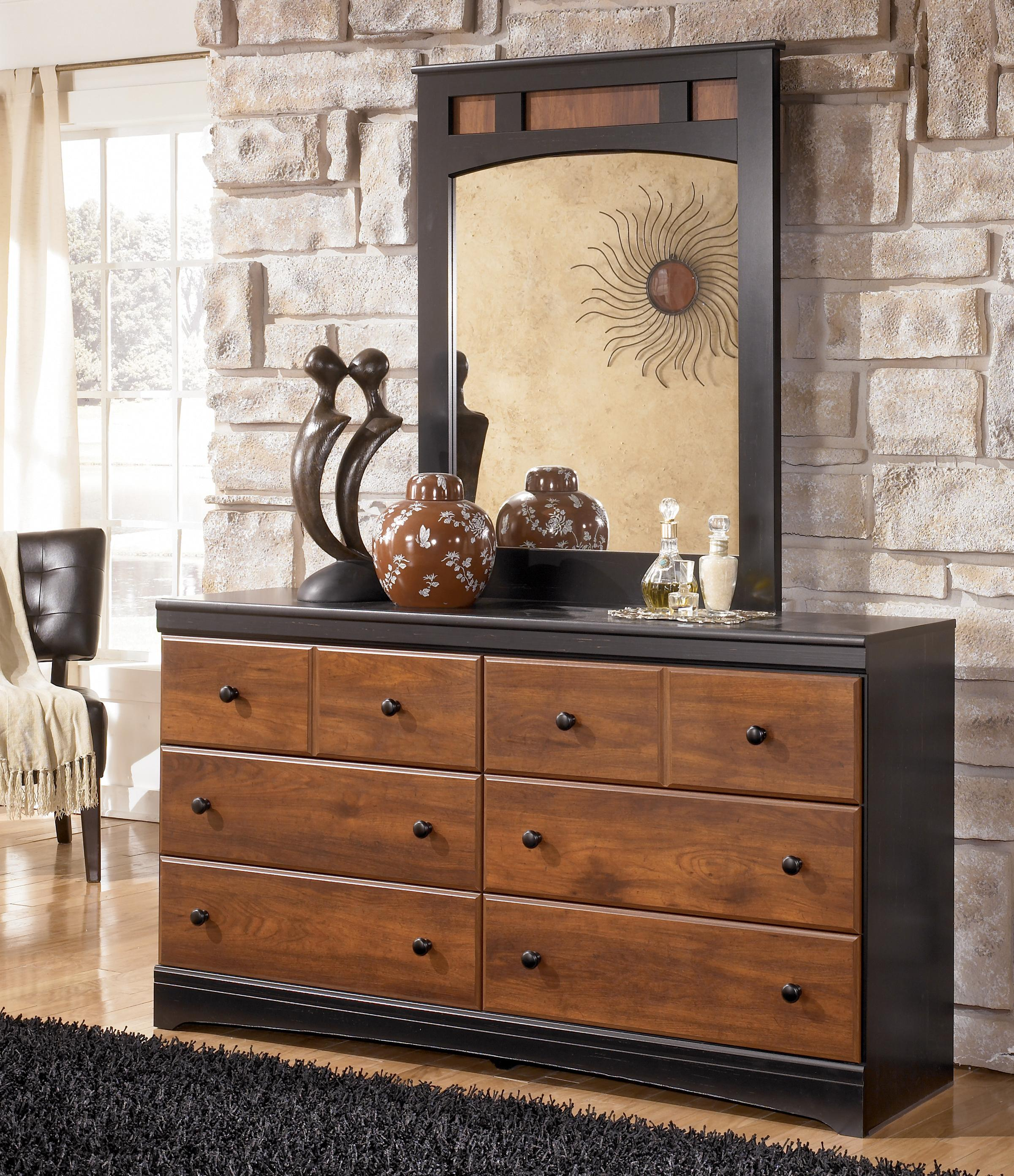 Signature Design by Ashley Aimwell Dresser & Mirror - Item Number: B136-31+36