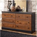 Signature Design by Ashley Aimwell 6 Drawer Dresser - Item Number: B136-31
