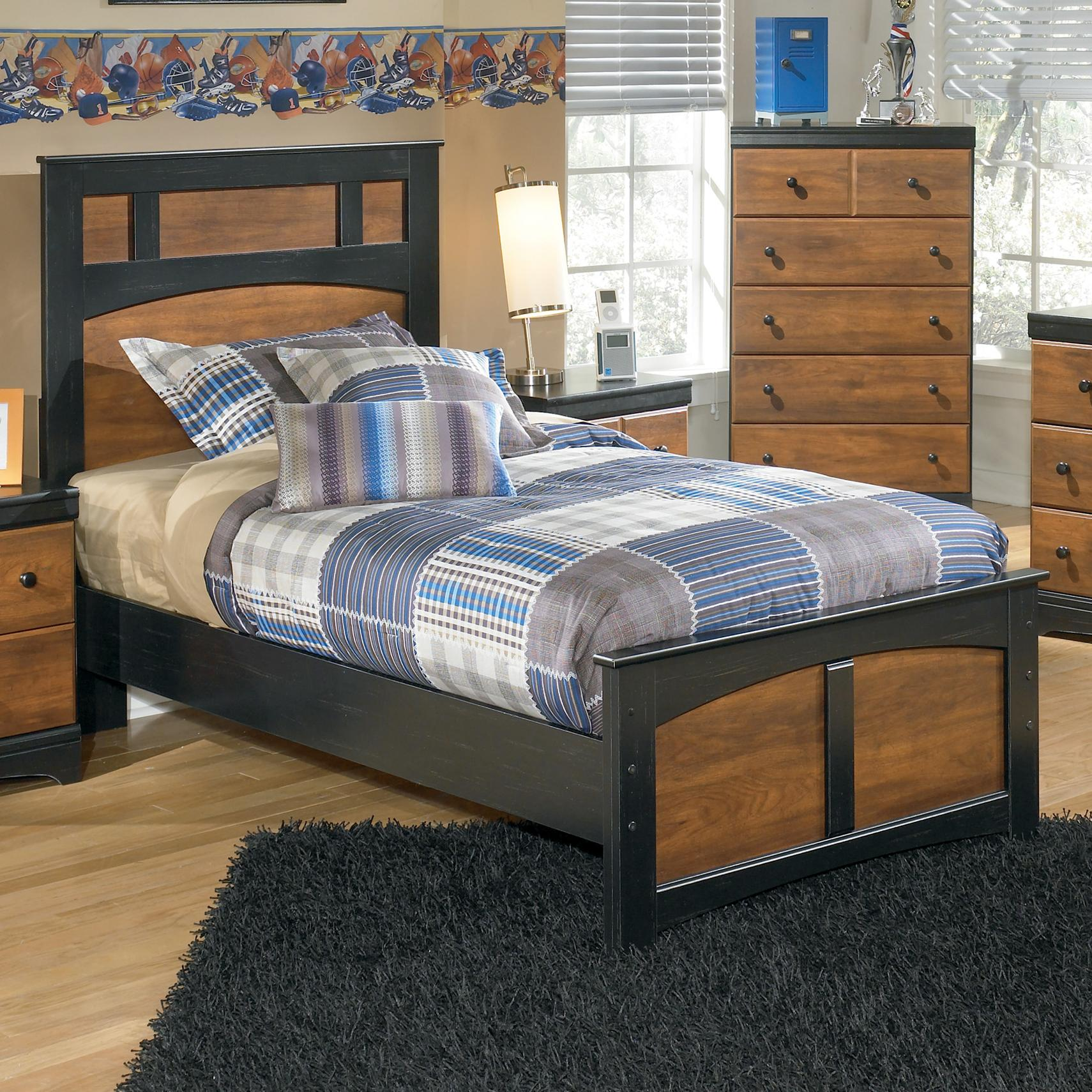 Signature Design by Ashley Aimwell Twin Panel Bed - Item Number: B136-53+52+83