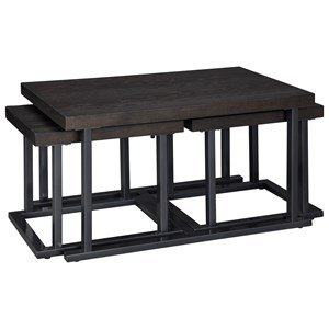 Cocktail Table with 2 Bunching Tables