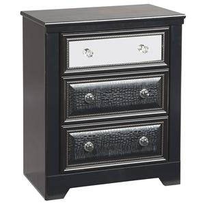 Signature Design by Ashley Furniture Alamadyre Three Drawer Night Stand