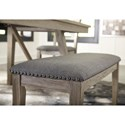Signature Design by Ashley Aldwin Upholstered Bench with Nailhead Trim