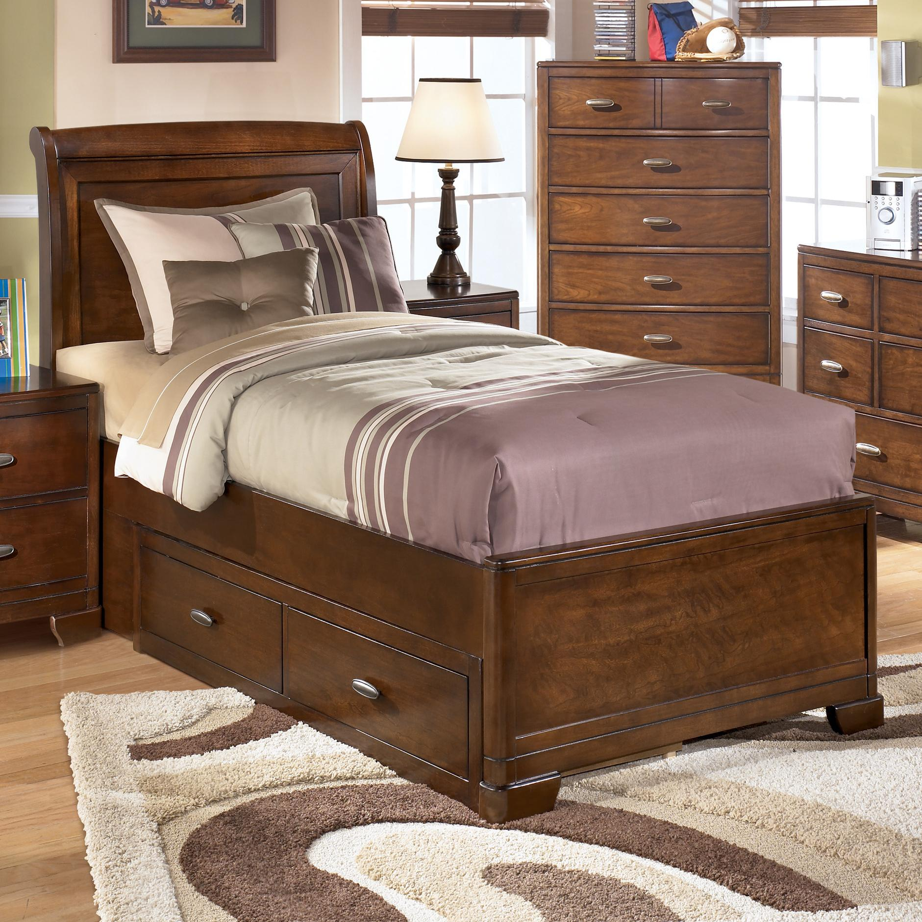Signature Design By Ashley Alea Twin Bed With 2 Storage Drawers  # Muebles Dearden'S