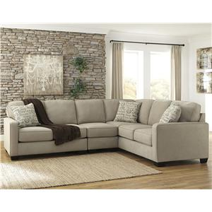 Signature Design by Ashley Furniture Alenya - Quartz 3-Piece Sectional with Left Loveseat