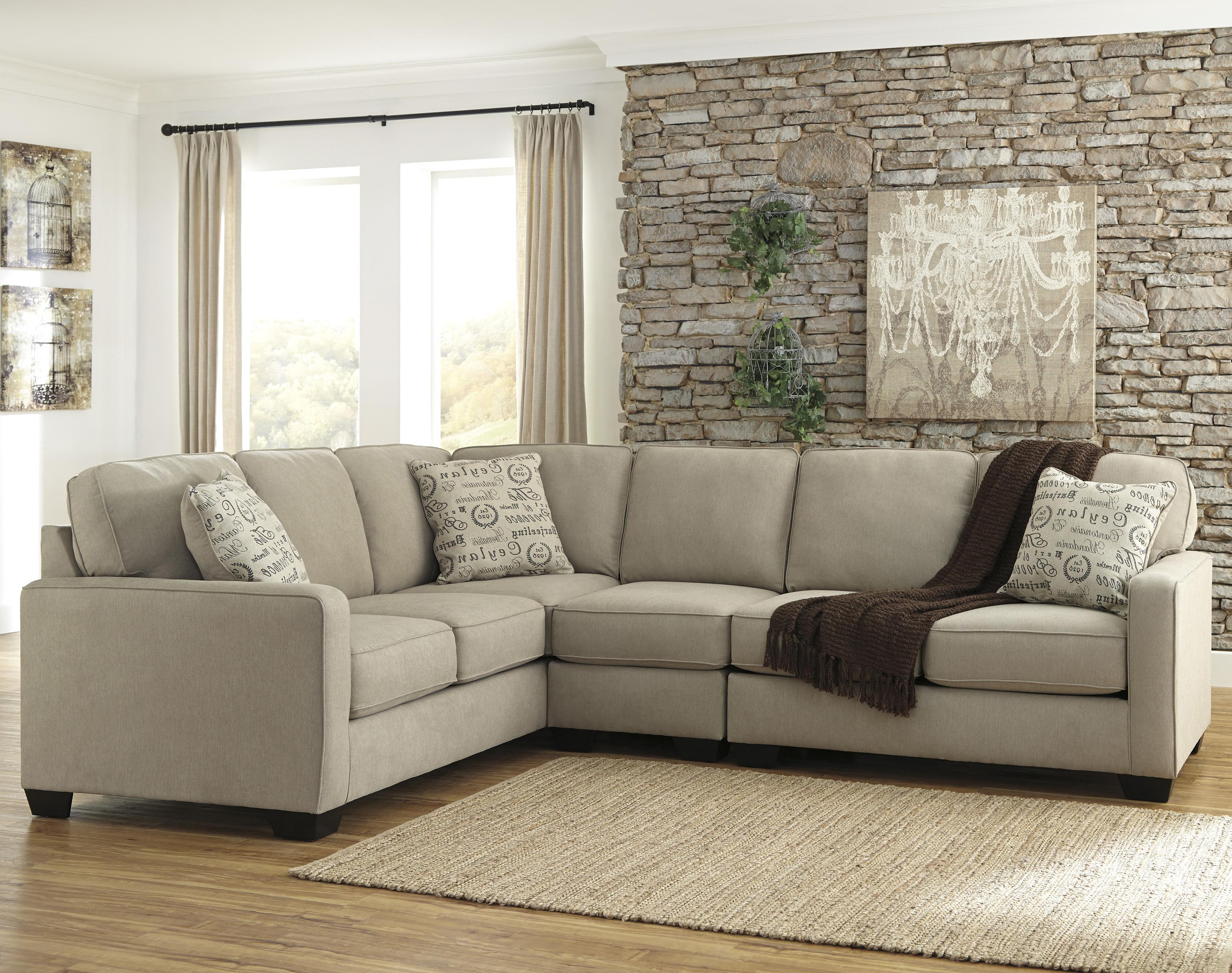 Signature Design by Ashley Alenya - Quartz 3-Piece Sectional with Right Loveseat - Item Number: 1660066+46+56