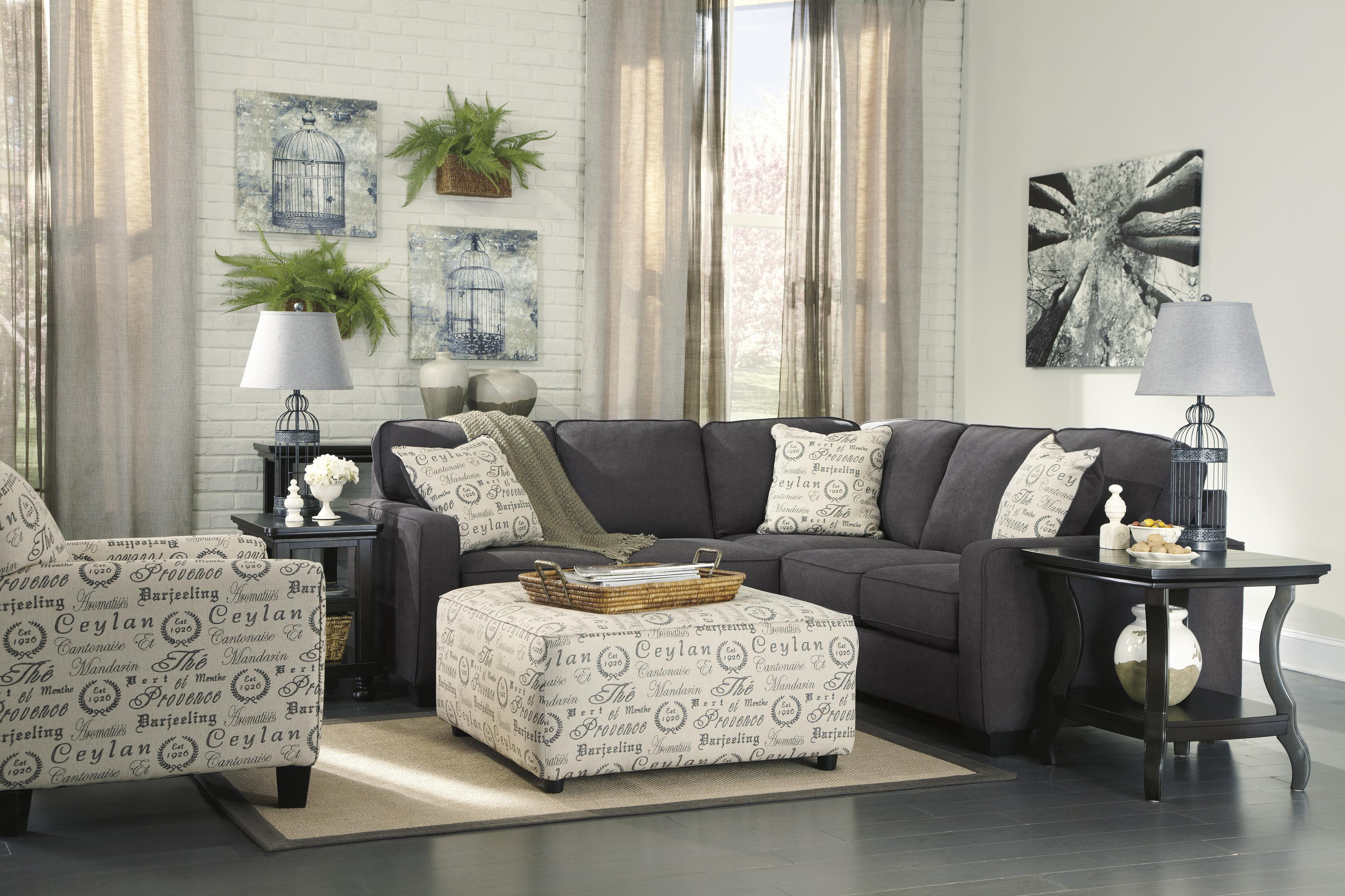 Alenya - Charcoal Stationary Living Room Group by Signature Design by Ashley at Northeast Factory Direct