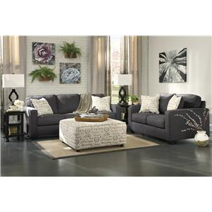 Ashley Signature Design Alenya - Charcoal Stationary Living Room Group