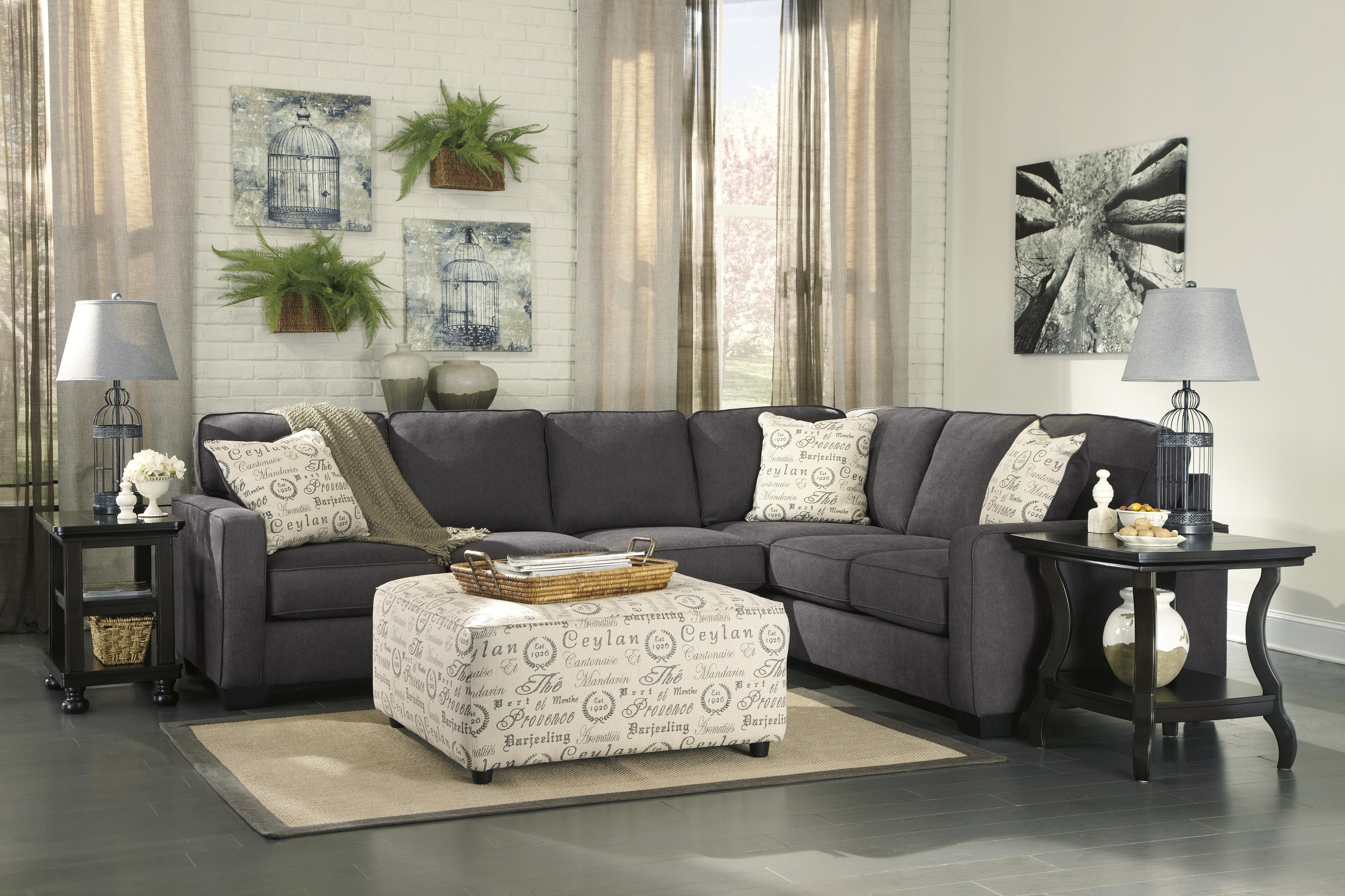 Alenya - Charcoal Stationary Living Room Group by Signature Design by Ashley at Home Furnishings Direct