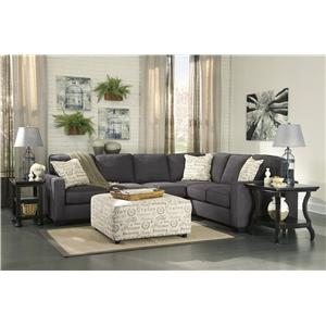 Signature Design by Ashley Alenya - Charcoal Stationary Living Room Group