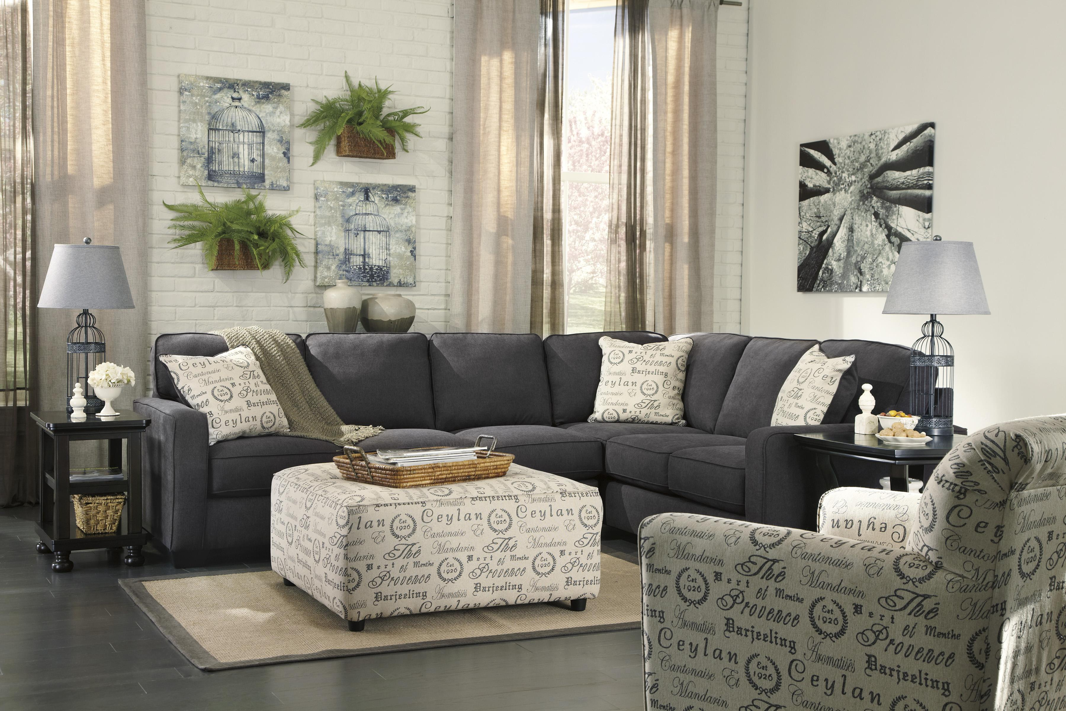 Signature Design by Ashley Alenya - Charcoal Stationary Living Room Group - Item Number: 16601 Living Room Group 7
