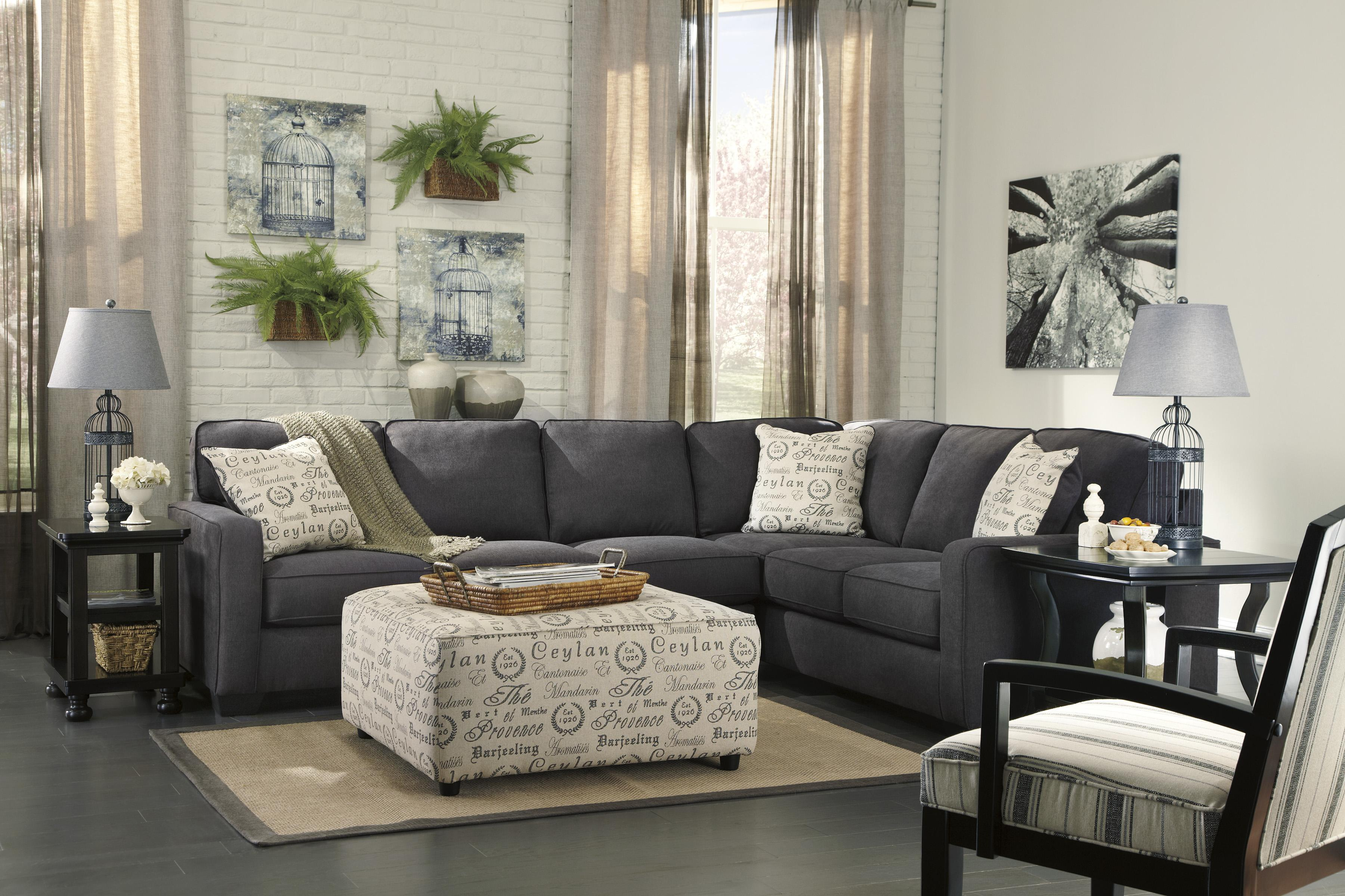 Signature Design by Ashley Furniture Alenya - Charcoal Stationary Living Room Group - Item Number: 16601 Living Room Group 8