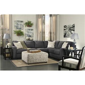 Signature Design by Ashley Furniture Alenya - Charcoal Stationary Living Room Group