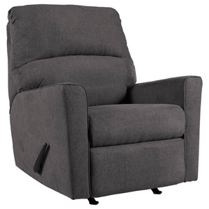 Ashley Signature Design Alenya - Charcoal Rocker Recliner