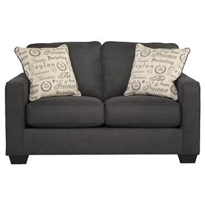 Signature Design by Ashley Alenya - Charcoal Loveseat