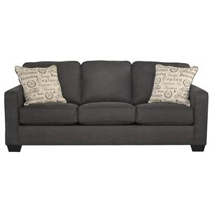 Signature Design by Ashley Alyssa Charcoal Sofa