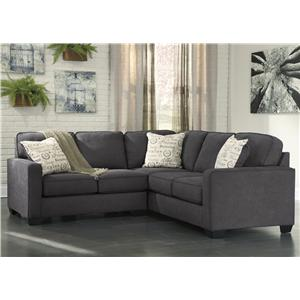 Ashley Signature Design Alenya - Charcoal 2-Piece Sectional with Left Loveseat