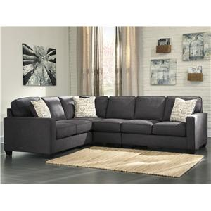 Signature Design by Ashley Alenya - Charcoal 3-Piece Sectional with Right Loveseat